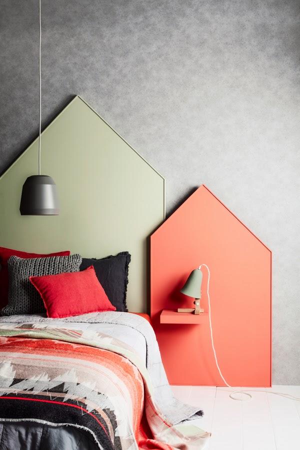 Atelier rue verte le blog diy une t te de lit et sa table de nuit incorpor e - Tete de lit table de nuit ...