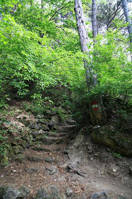 Aufstieg zu den Höhlen