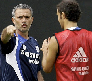 Mourinho and Carvalho clashed in 2005 in Chelsea