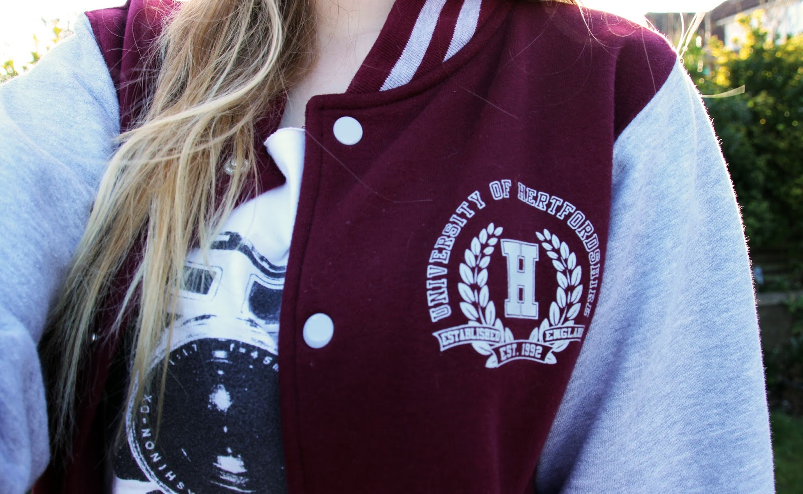 Maroon Baseball jacket