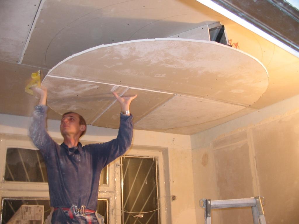 Ремонт своими руками потолок фото