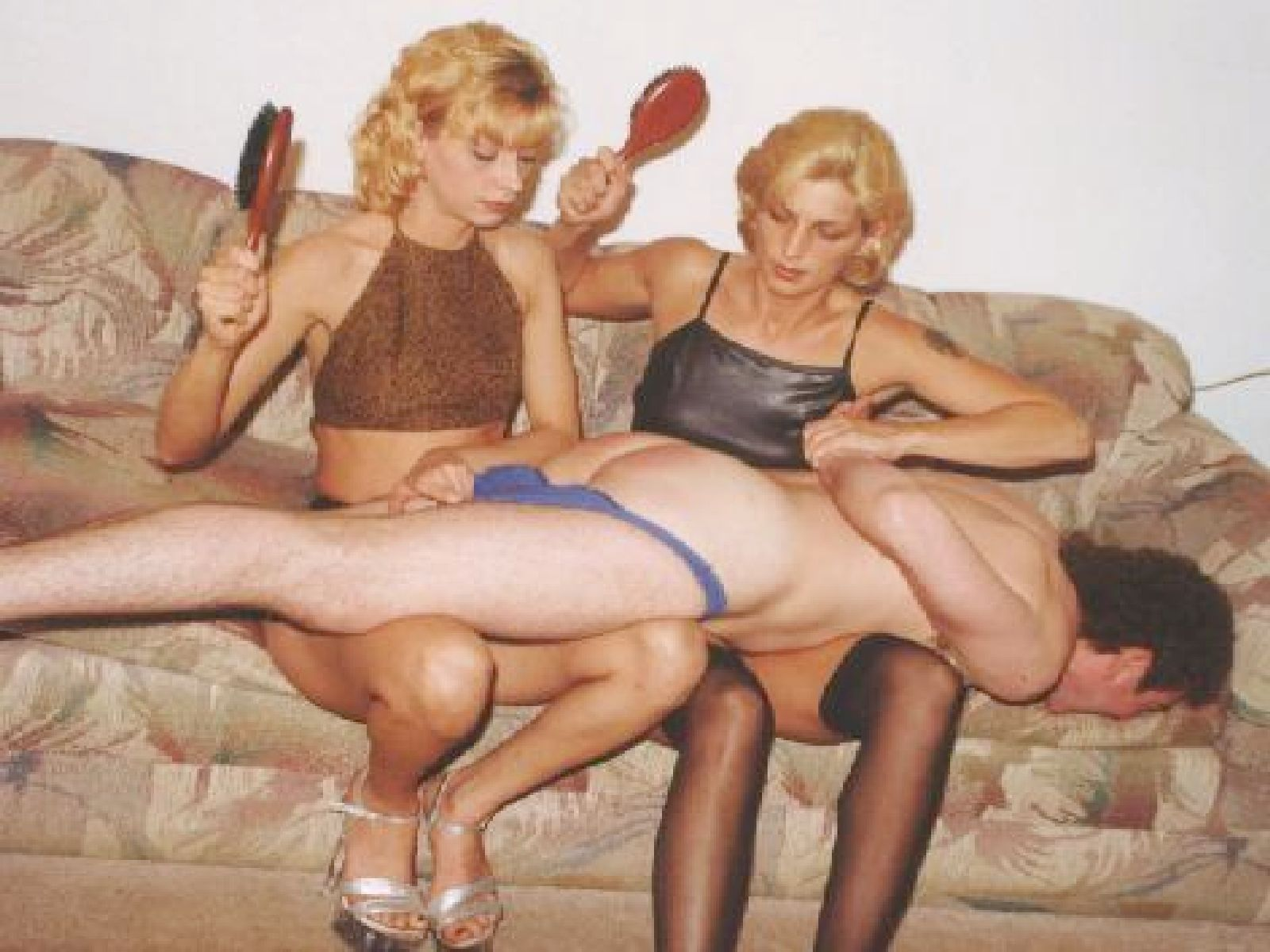 Mother sister spank