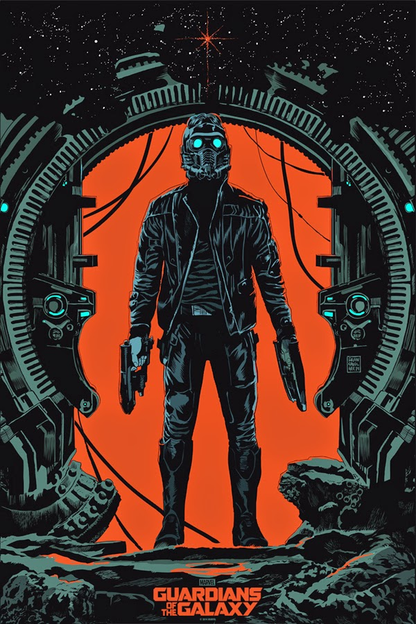 San Diego Comic-Con 2014 Exclusive Star-Lord Guardians of the Galaxy Screen Print by Francesco Francavilla