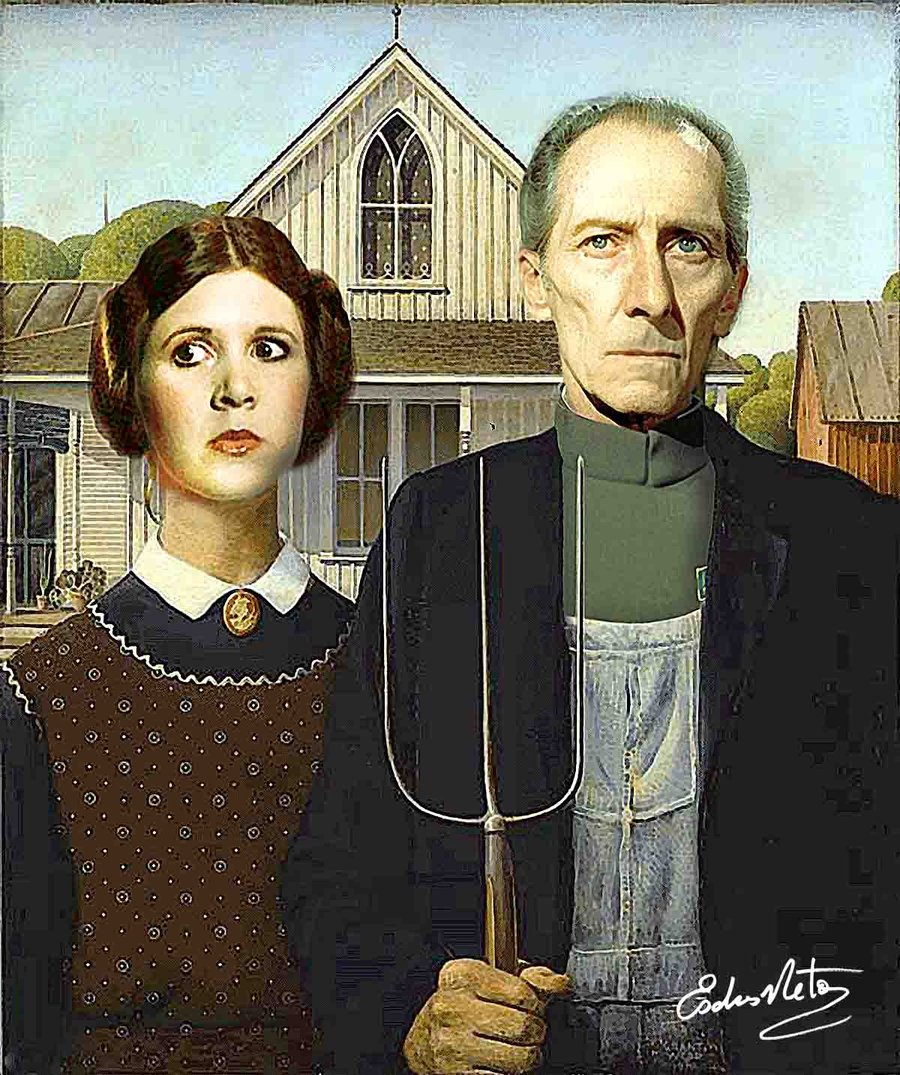 opinion on american gothic painting American gothic, often understood as a satirical comment on the midwestern character,  frederick s wight, milestones of american painting in our century,.