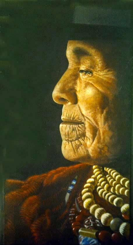 mujer quechua ( acrilico )