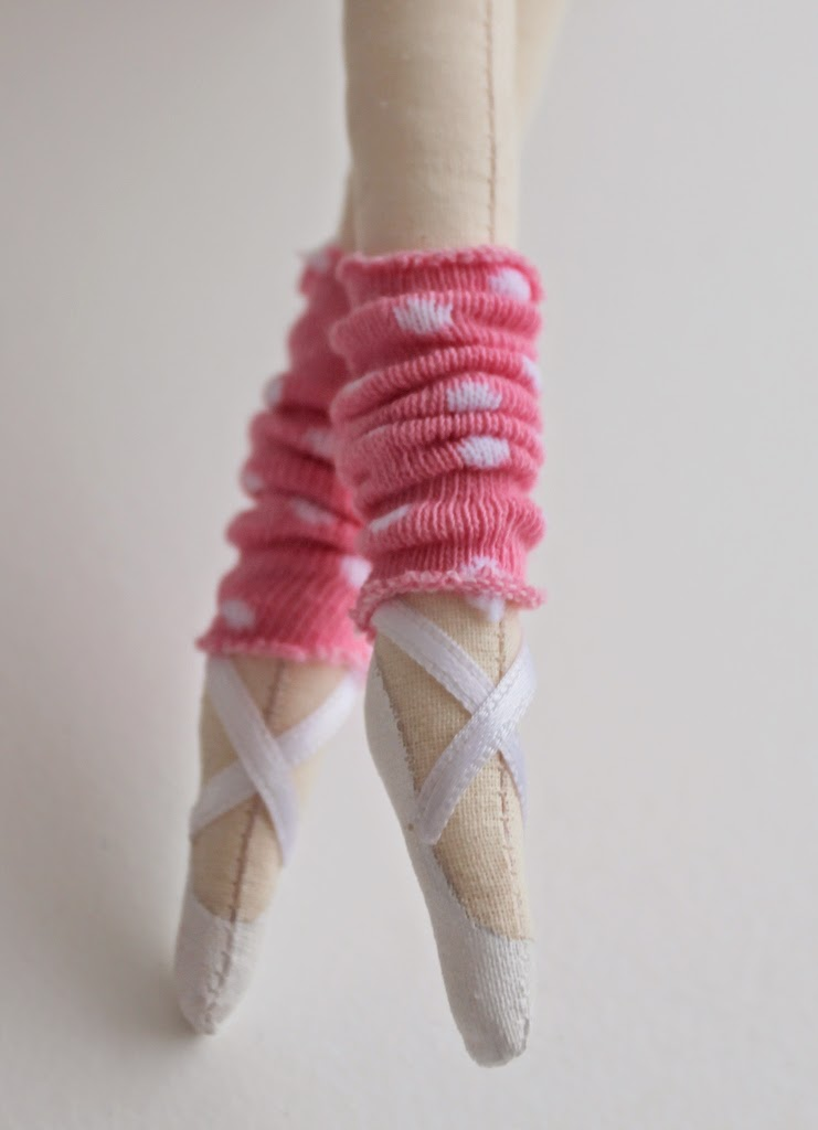 балерина интерьерная текстильная кукла пуанты