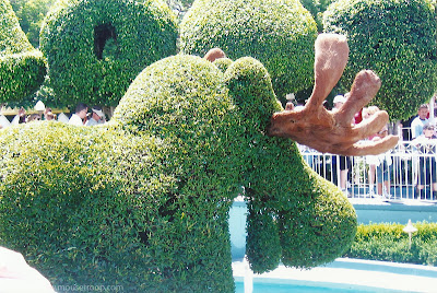 Disneyland Topiaries topiary Small World garden moose