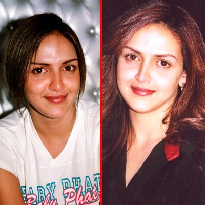 hollywood actress without makeup. Esha Deol