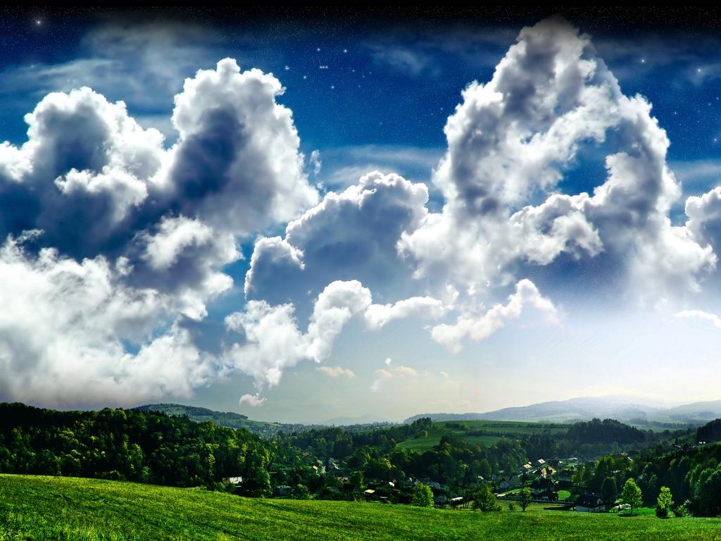 Bulutlu gökyüzü resimleri bulutlu gökyüzü manzarası bulutlu