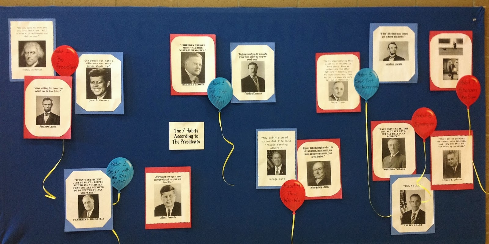 Super school counselor a few more bulletin boards based for 7 habits decorations