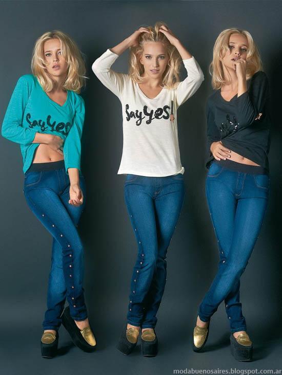Marcela Koury Select otoño invierno 2013 jeans