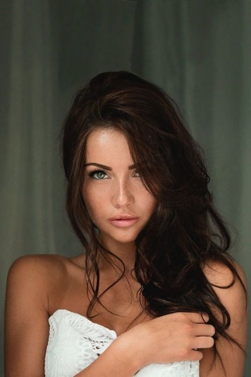 Gorgeous Brunette with Green Eyes