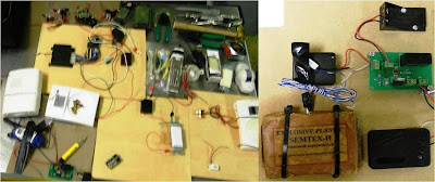 IED Training Aids - We found a similar item just a few weeks ago, but once again, an IED training kit with a training components, a block of simulated SEMTEX-H, and a simulated blasting cap were discovered in checked baggage. This time it was at Columbus (CSG). And in case you're wondering, it wasn't an internal test.