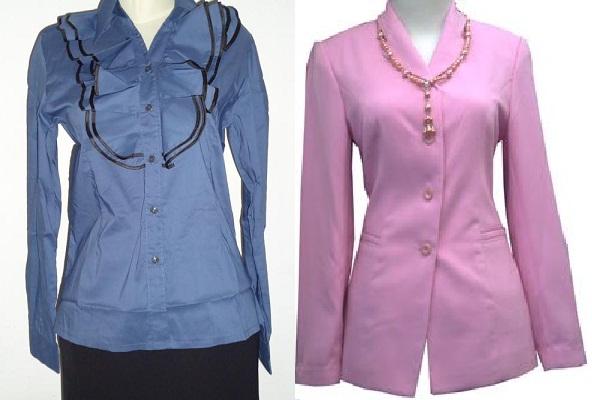 Gambar model blus kerja wanita