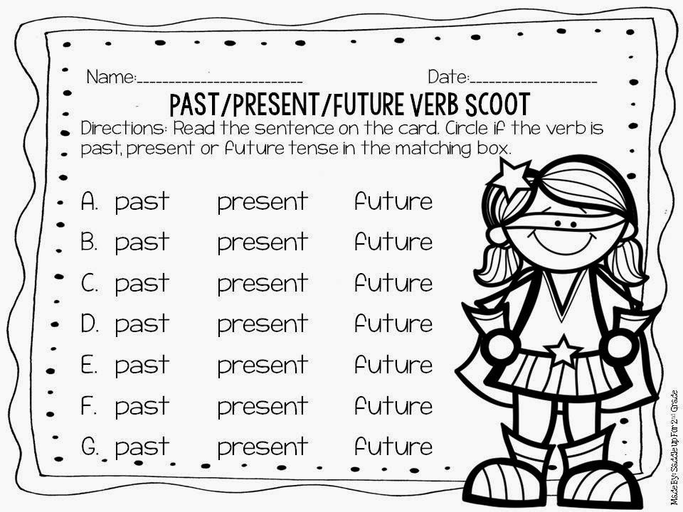 Verb Task Cards by Saddle Up For 2nd Grade