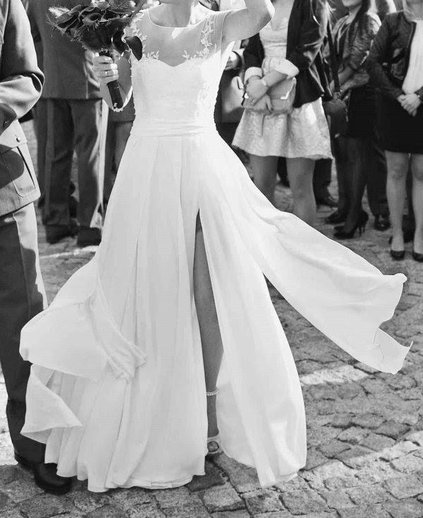 Suknie ślubne Vestido Muślinowa Suknia ślubna 3436