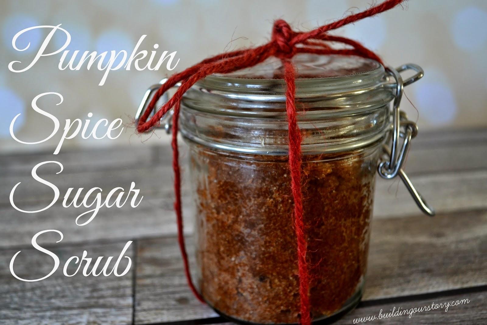 Pumpkin Spice Sugar Scrub #DIY.  Sugar Scrub recipe.  DIY gifts.  Teacher gifts.  Spice Sugar Scrub.  Sugar bath scrub. Pumpkin Sugar Scrub recipes. Easy Sugar Scrub recipes.
