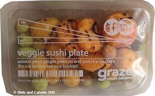 Graze box snack - veggie sushi plate