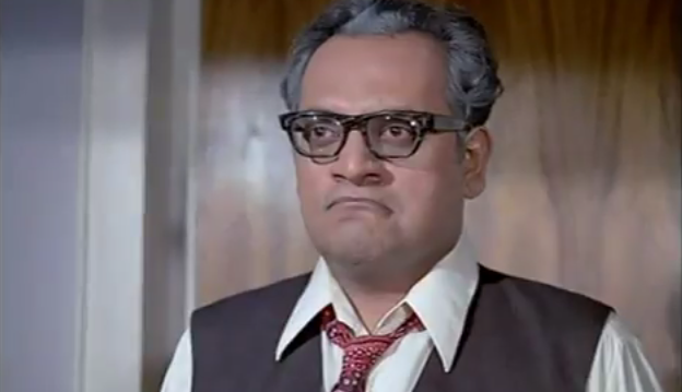 Angry Utpal Dutta. Source ~ Blogspot.com