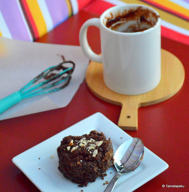 4 Ingredient Nutella Mug Cake