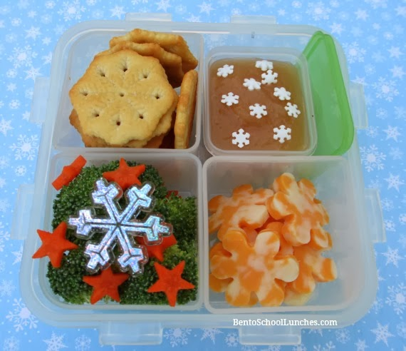 Winter themed lunchables, bento school lunch