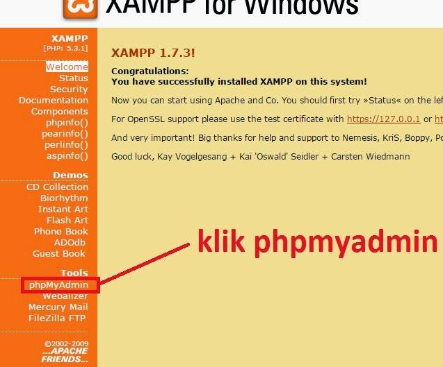 klikphpmyadmin - Membuat Kegiatan Mean Dengan Java Dan Mysql