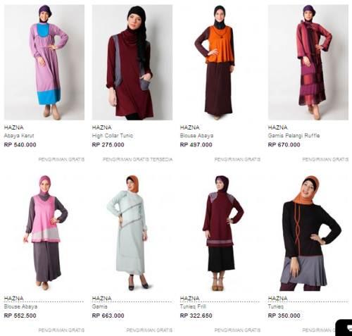 Koleksi Busana Muslim Hazna Terbaru