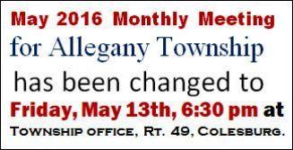 5-13 Allegany Twp. Meeting Change