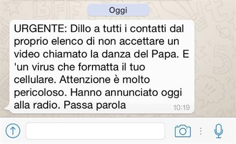 antibufala attenti al virus della danza del papa il