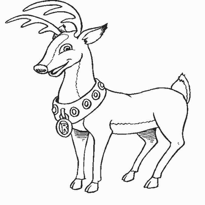 reindeer coloring pages 2. Rudolph Reindeer Coloring Pages 11  Disney