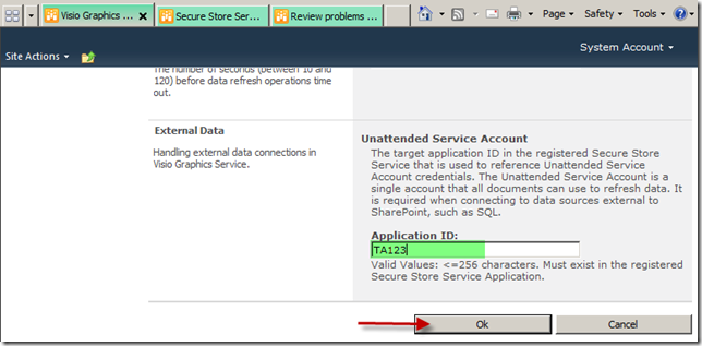 Solved Unattended Service Account Applicaiton ID -Visio error