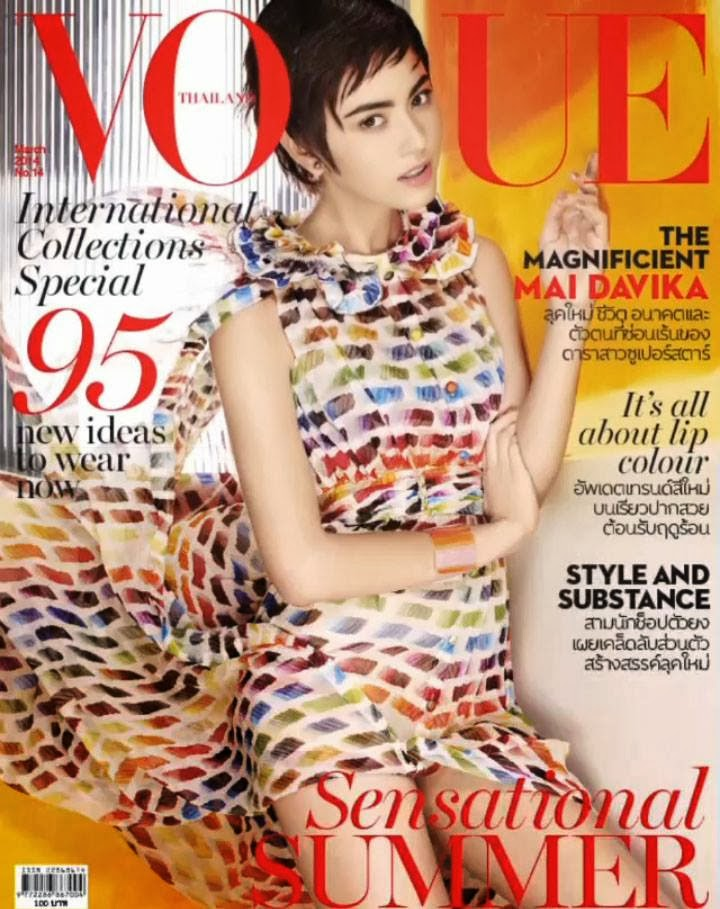 Davika Hoorne Photos from Vogue Thailand Magazine Cover March 2014 HQ Scans