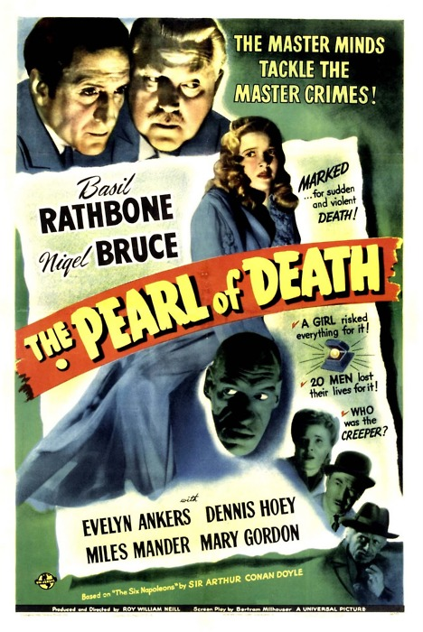 Sherlock Holmes in The Pearl of Death Film Poster