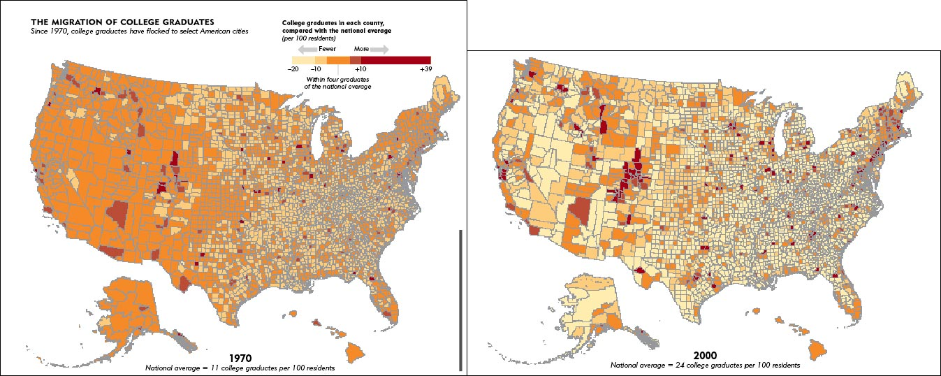 The Functional Art An Introduction To Information Graphics And - Us population map