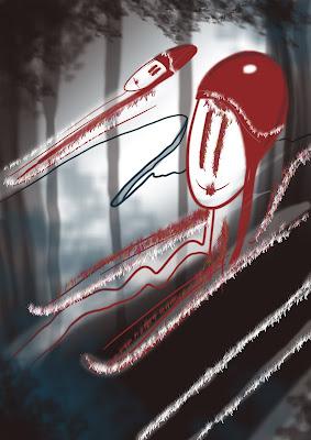 desen schita Doi copii la sanius iarna