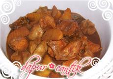 gambar resep masakan semur pedas ayam kentang dapur cantik