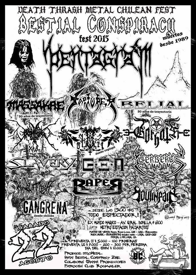 ‎PENTAGRAM Stgo - Chile / Death Thrash Metal Chilean Fest 2015