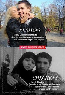 Rusos y radicales chechenos
