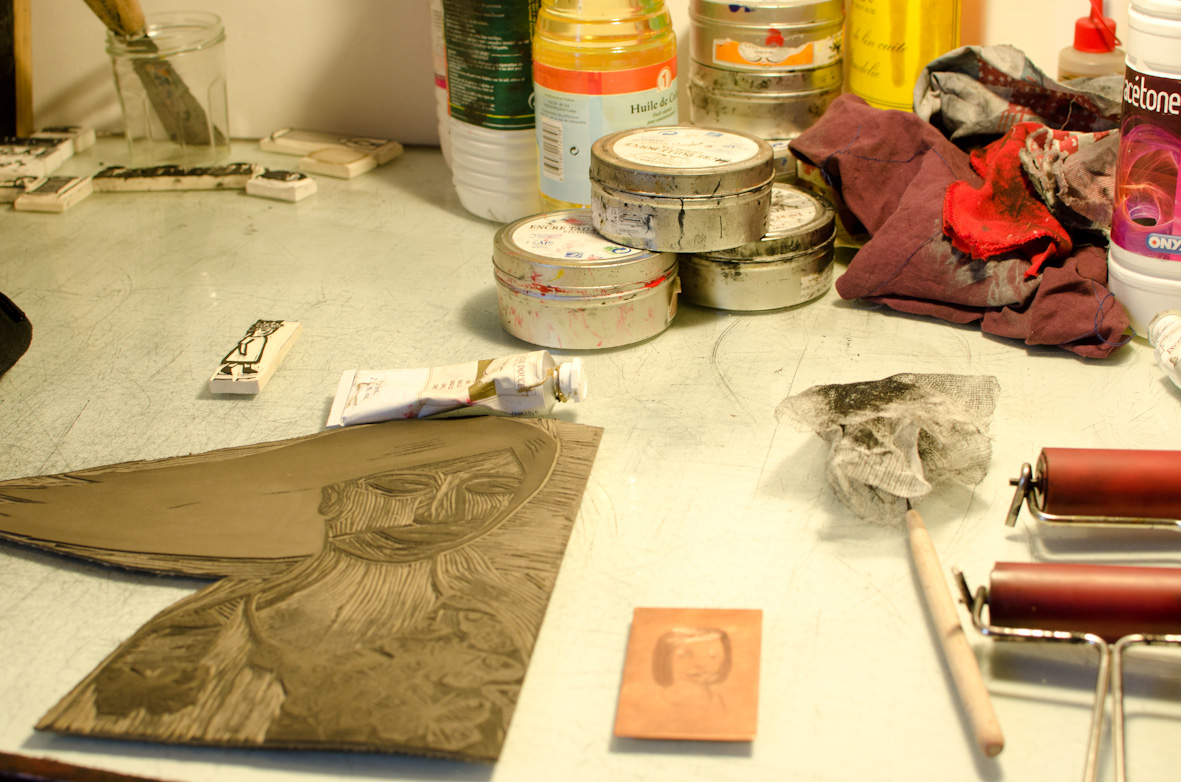 Atelier barbe papier portes ouvertes gravures et cupcakes - Atelier chardon savard portes ouvertes ...