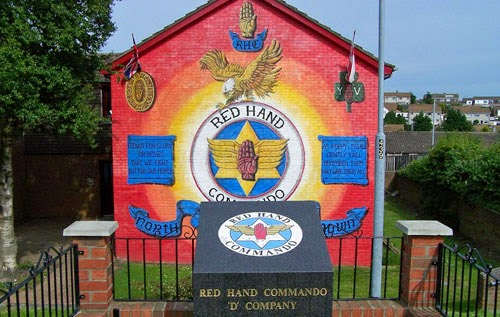 Red Hand Commando mural in Northern Ireland