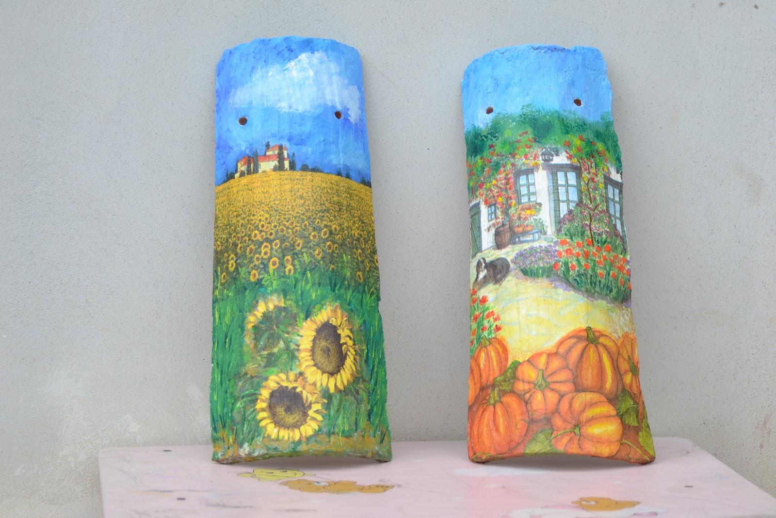 Cipeciopcreattivi tegole decorate - Tegole decorate ...
