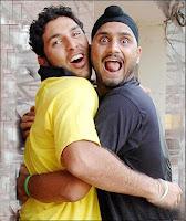 Yuvraj Singh With Harbhajn Singh