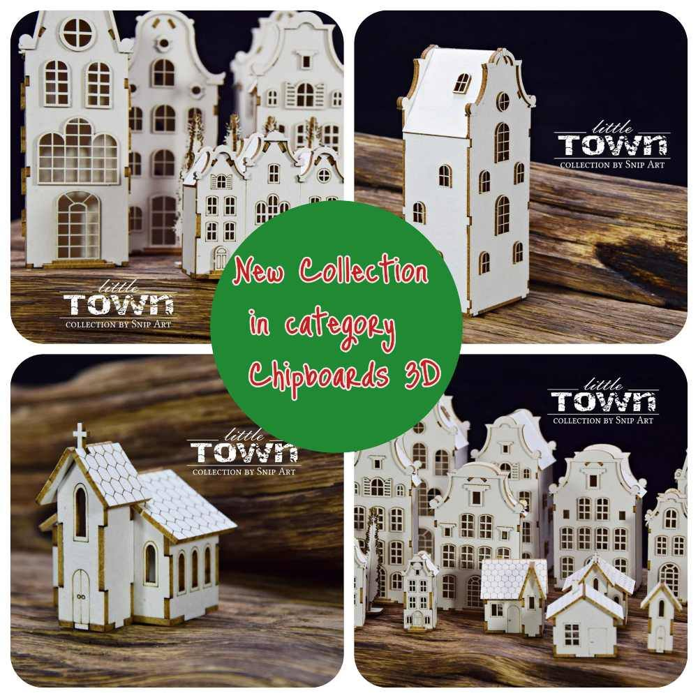 New chipboards LITTLE TOWN