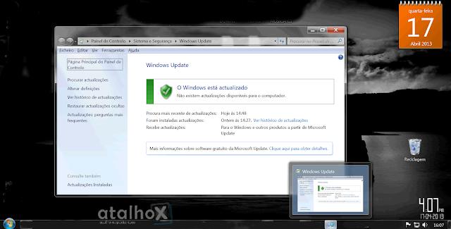 atalho de acesso ao Windows Update