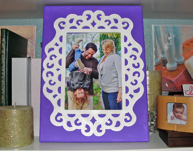family photo purple canvas