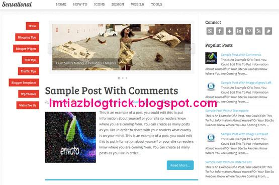 8 Sensational - Best Blogger Template