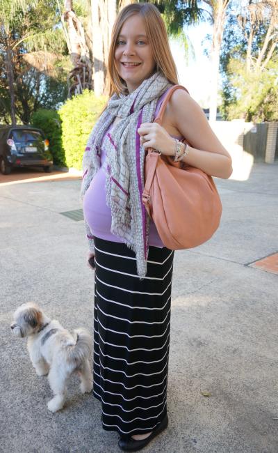 marc by marc jacobs croc print scarf hillier hobo bag worn singlet maxi skirt third trimester