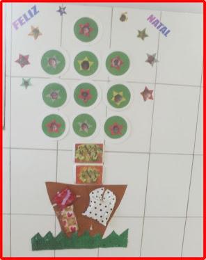 Árvore de Natal com pratinhos de Pizza