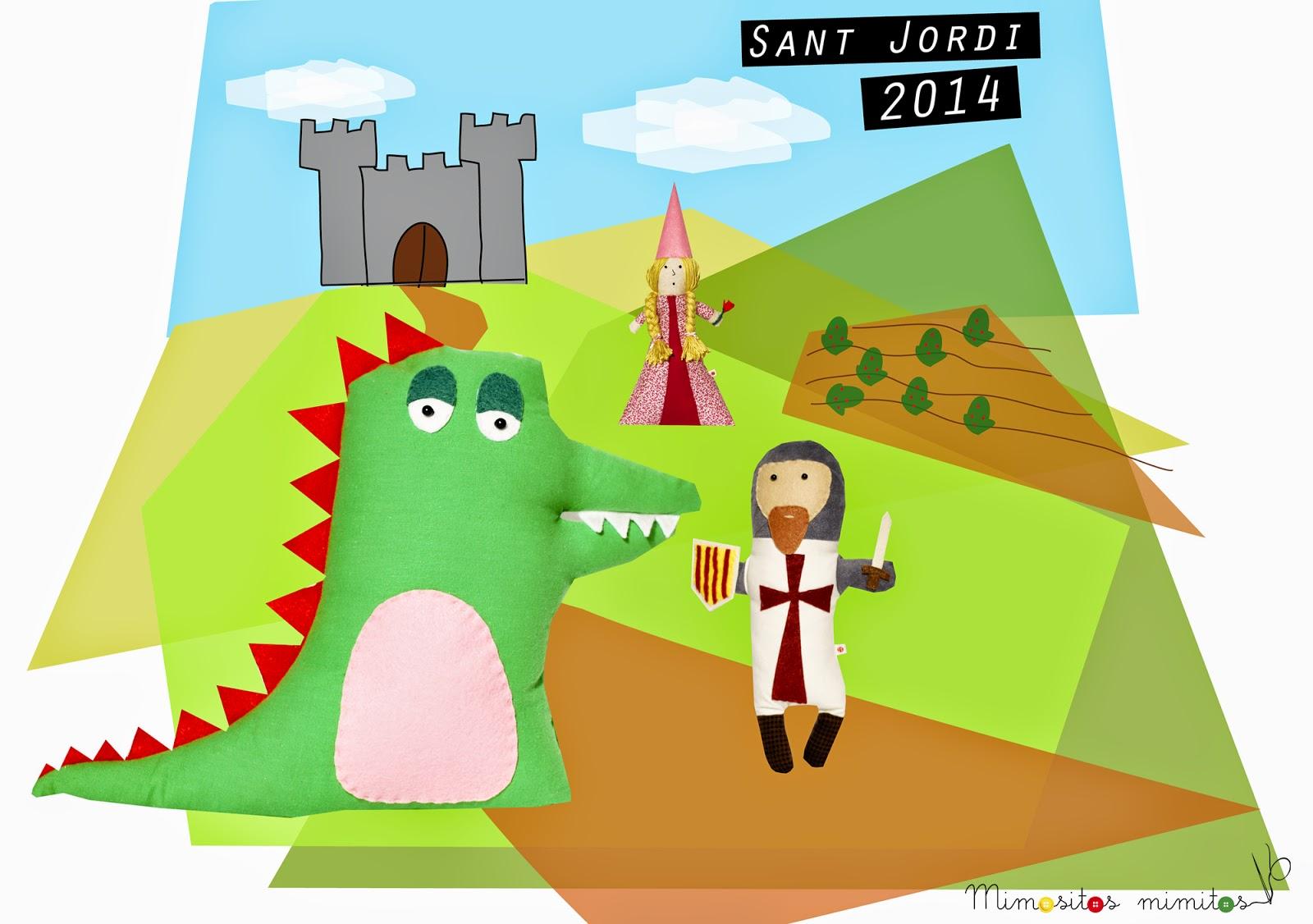 sant jordi 2014 leyenda princesa caballero rosa dragón enamorados Cervantes Shakespeare cavaller drac llegenda