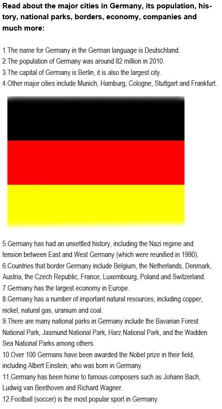 Fun facts about Germany for kids